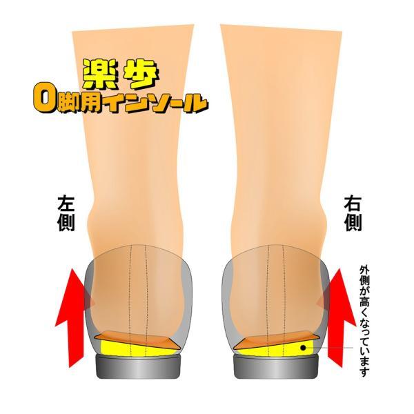 162楽歩 O脚用 インソール 女性用 o脚 かかと 足 衝撃吸収 サポート
