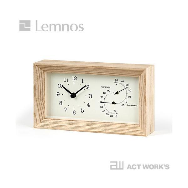 LEMNOS FRAME 温湿度計付き置き時計 タカタレムノス 温度計 湿度計 フレーム