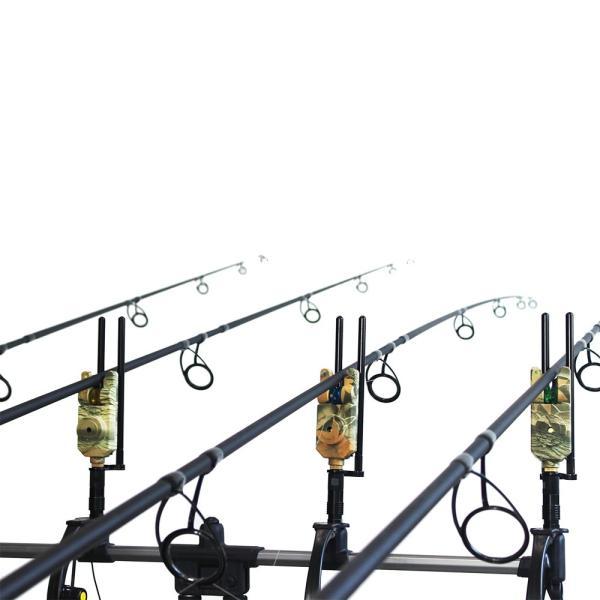 Lixada ワイヤレス LED 釣りアラームセット 4PCS*フィッシングバイトアラーム+ 1PCS*レシーバーセット 専門ケース付き 迷彩柄