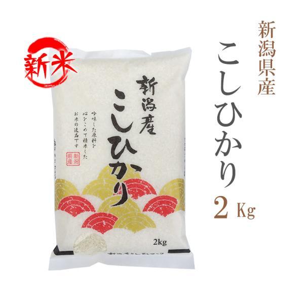 新米 お米 2kg 送料別 白米 コシヒカリ 新潟県産 令和3年産 お米 2キロ あす着く食品