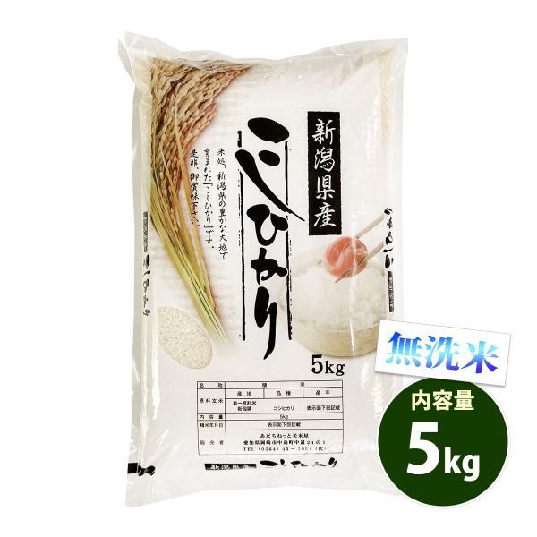 新米 無洗米 5kg 送料別 コシヒカリ 新潟県産 令和3年産 米 5キロ お米 あす着く食品