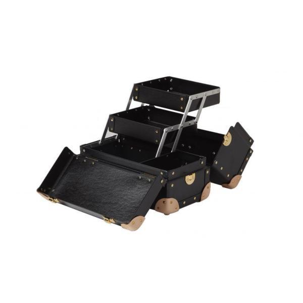 タイムボイジャー コレクションバッグM ブラック コスメボックス メイクボックス シューケア用品 靴磨き 収納 adachishiki 03