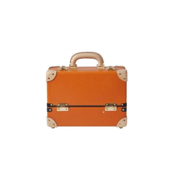 タイムボイジャー コレクションバッグM ビターオレンジ コスメボックス メイクボックス シューケア用品 靴磨き 収納|adachishiki|02