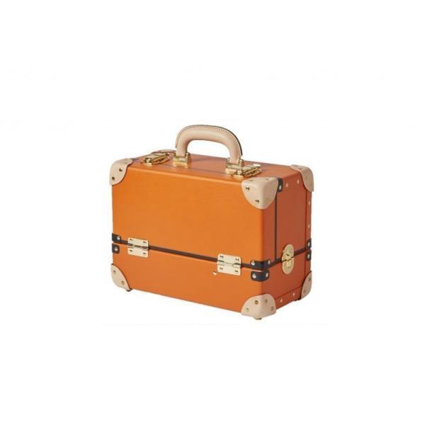 タイムボイジャー コレクションバッグM ビターオレンジ コスメボックス メイクボックス シューケア用品 靴磨き 収納|adachishiki|03