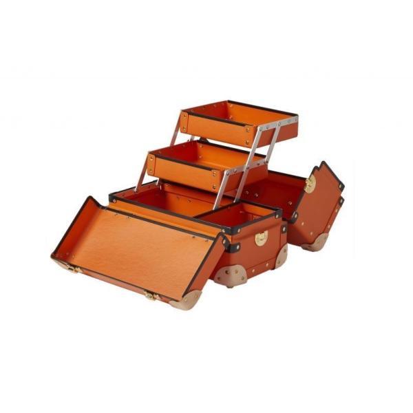 タイムボイジャー コレクションバッグM ビターオレンジ コスメボックス メイクボックス シューケア用品 靴磨き 収納|adachishiki|04