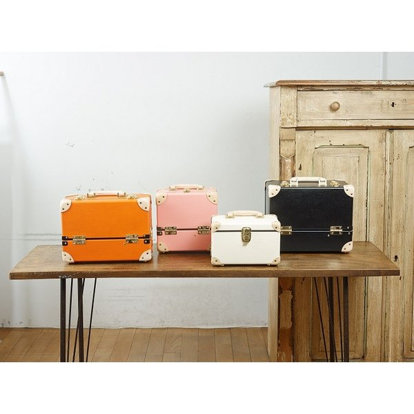 タイムボイジャー コレクションバッグM ビターオレンジ コスメボックス メイクボックス シューケア用品 靴磨き 収納|adachishiki|05