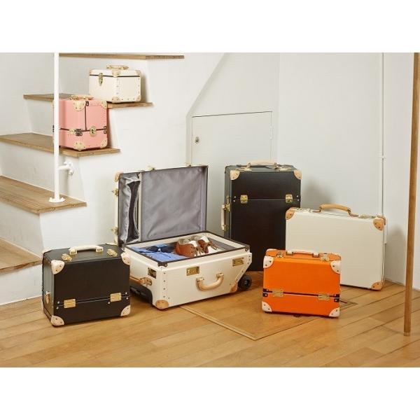 タイムボイジャー コレクションバッグM ビターオレンジ コスメボックス メイクボックス シューケア用品 靴磨き 収納|adachishiki|06