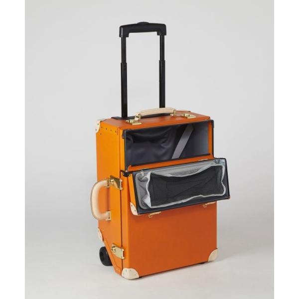 タイムボイジャートロリーバッグ プレミアムII ビターオレンジ スーツケース キャリーバッグ 旅行カバン 約33L バルカナイズドファイバー|adachishiki|03