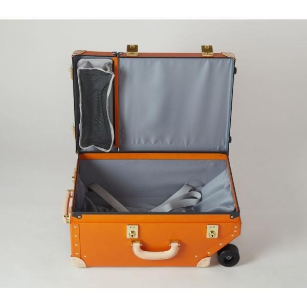 タイムボイジャートロリーバッグ プレミアムII ビターオレンジ スーツケース キャリーバッグ 旅行カバン 約33L バルカナイズドファイバー|adachishiki|05