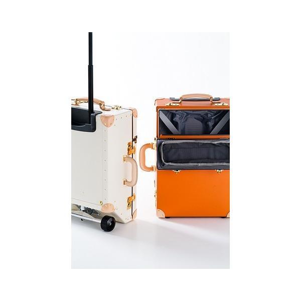 タイムボイジャートロリーバッグ プレミアムII ビターオレンジ スーツケース キャリーバッグ 旅行カバン 約33L バルカナイズドファイバー|adachishiki|09