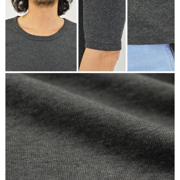 Tシャツ メンズ 半袖 無地 5分袖 五分袖 カットソー Uネック/2点までメール便可能|adamas|03