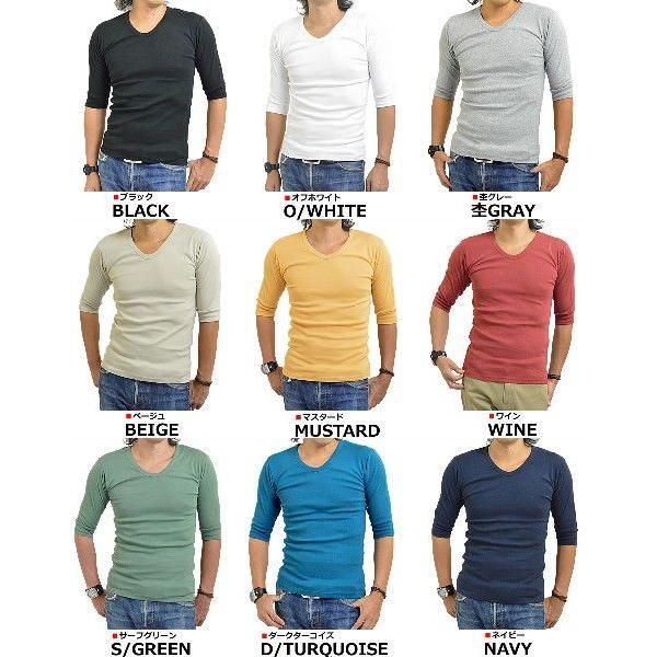 Tシャツ メンズ 無地 七分袖(7分袖)と五分袖(5分袖)の中間 人気の六分袖 2017春夏 新作|adamas|02