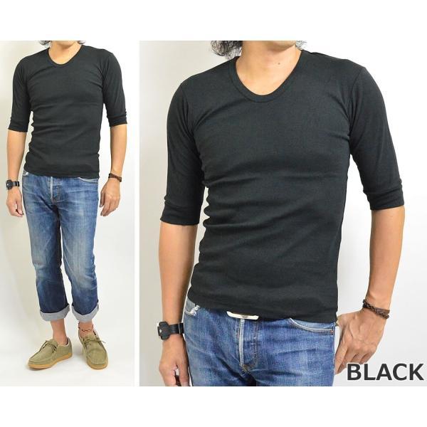 Tシャツ メンズ 無地 七分袖(7分袖)と五分袖(5分袖)の中間 人気の六分袖 2017春夏 新作|adamas|04