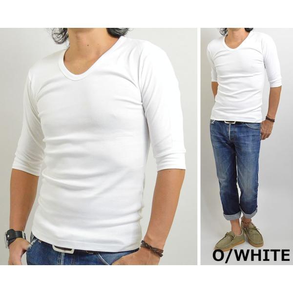 Tシャツ メンズ 無地 七分袖(7分袖)と五分袖(5分袖)の中間 人気の六分袖 2017春夏 新作|adamas|05