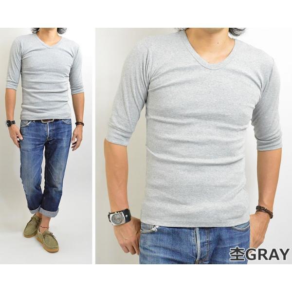 Tシャツ メンズ 無地 七分袖(7分袖)と五分袖(5分袖)の中間 人気の六分袖 2017春夏 新作|adamas|06