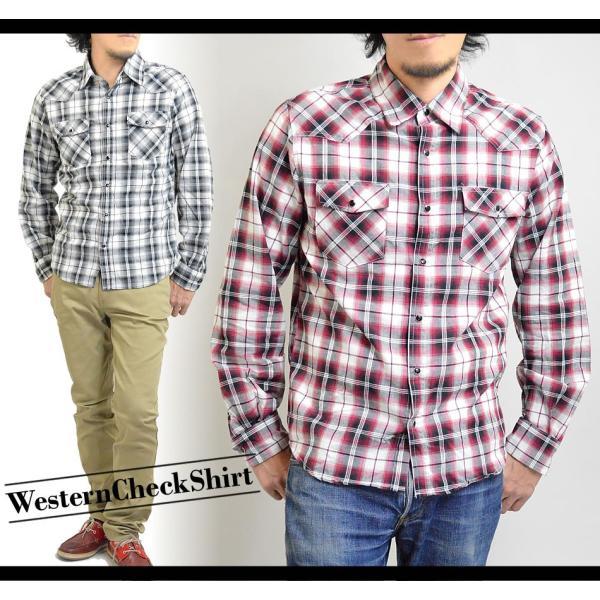 チェックシャツ メンズ  ウエスタンシャツ 長袖シャツ カジュアルシャツ 秋冬 春  綿 薄手 柄シャツ|adamas