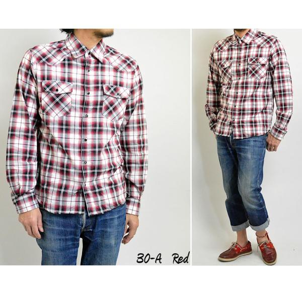 チェックシャツ メンズ  ウエスタンシャツ 長袖シャツ カジュアルシャツ 秋冬 春  綿 薄手 柄シャツ|adamas|04