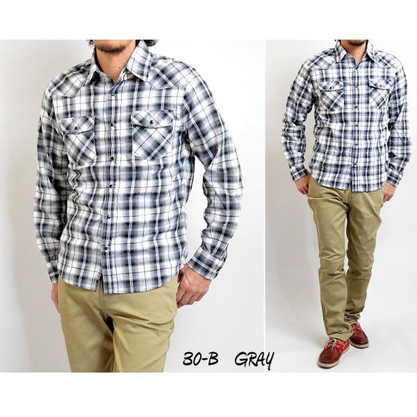 チェックシャツ メンズ  ウエスタンシャツ 長袖シャツ カジュアルシャツ 秋冬 春  綿 薄手 柄シャツ|adamas|05