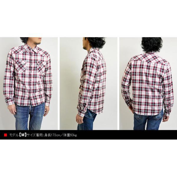 チェックシャツ メンズ  ウエスタンシャツ 長袖シャツ カジュアルシャツ 秋冬 春  綿 薄手 柄シャツ|adamas|06