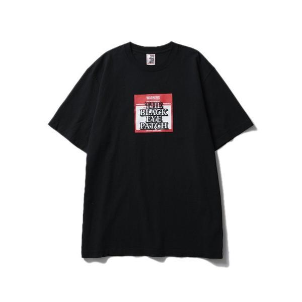 BLACK EYE PATCH ブラックアイパッチ LABEL TEE (BLACK) ラベルロゴ Tシャツ|addictive