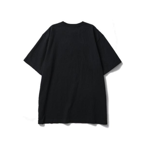 BLACK EYE PATCH ブラックアイパッチ LABEL TEE (BLACK) ラベルロゴ Tシャツ|addictive|02