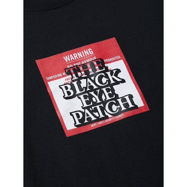 BLACK EYE PATCH ブラックアイパッチ LABEL TEE (BLACK) ラベルロゴ Tシャツ|addictive|03