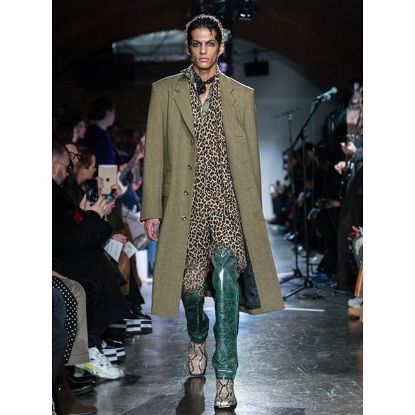 JOHNLAWRENCESULLIVAN ジョンローレンスサリバン PYTHON PRINTED COTTON REGULER COLLER SHIRT (BEIGE) パイソンシャツ|addictive|02