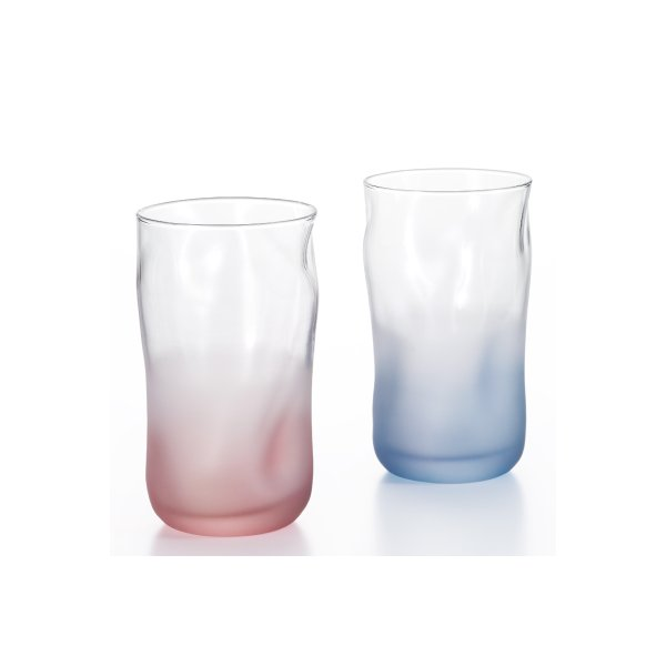 アデリアグラスタンブラーペアグラスブルー&ピンクフォルムドナチュールペアセット日本製化粧箱入