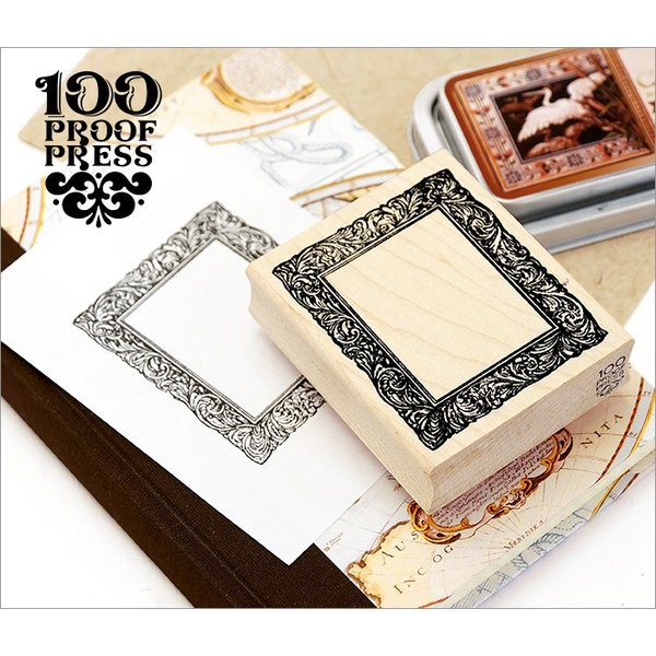 100 Proof Press #4057 額縁 Gilded Picture Frame, Small スタンプ アンティーク