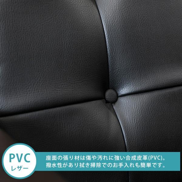レトロソファ 1人掛け 合成皮革 フェイクレザーシート AX-P64|adhoc-style|06