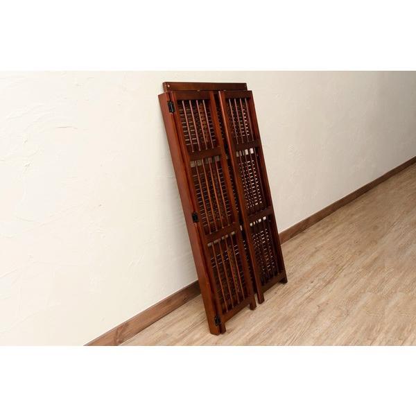 棚3段 アジアン家具 多目的ラック60cm幅  折りたたみ BL393-3|adhoc-style|03