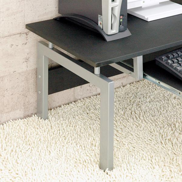 パソコンデスク 90cm幅 ロータイプ CT-2650 スライドテーブル付|adhoc-style|06