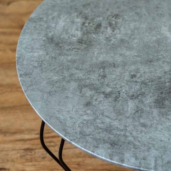 モダン 折りたたみテーブル 丸型 60cm幅 石目調 THS-26 猫脚|adhoc-style|06