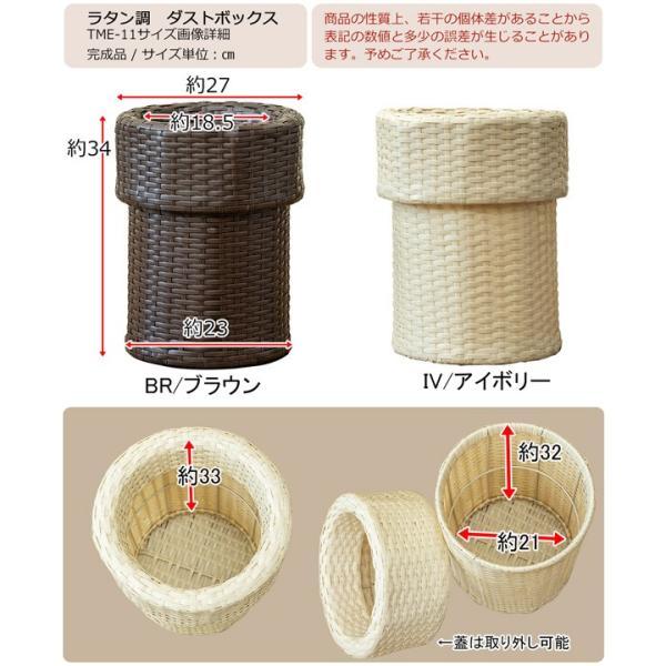 ゴミ箱 ごみ箱 ラタン調ダストボックス TMR-11|adhoc-style|02