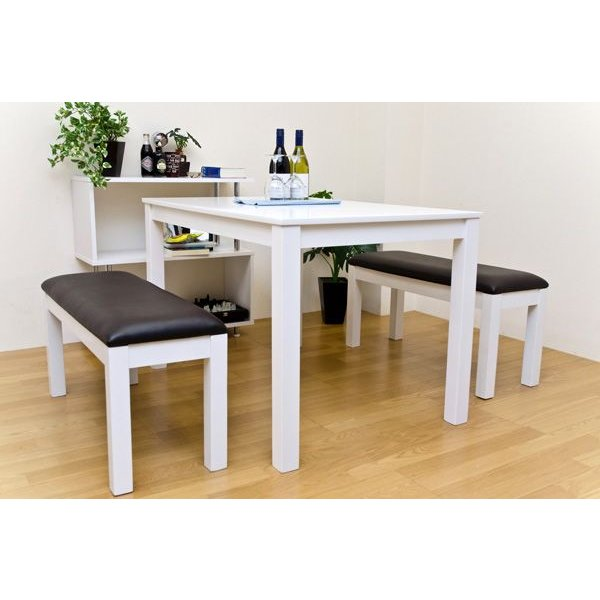 ダイニングセット 3点セット テーブル115cm幅 ベンチ VGL01-VGL04x2|adhoc-style|04