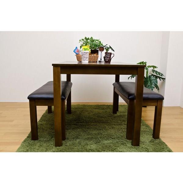 ダイニングセット 3点セット テーブル115cm幅 ベンチ VGL01-VGL04x2|adhoc-style|05