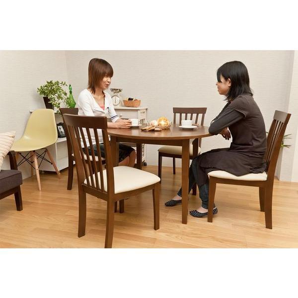 ダイニング3点セット 丸型テーブル100cm幅 チェア サニーVLS-100-86|adhoc-style|05