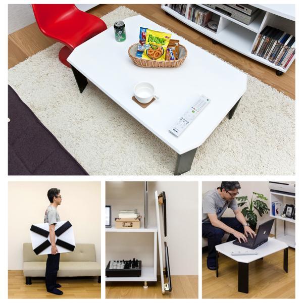 折りたたみテーブル 70cm幅 ツートンテーブル WFG-7050|adhoc-style|06