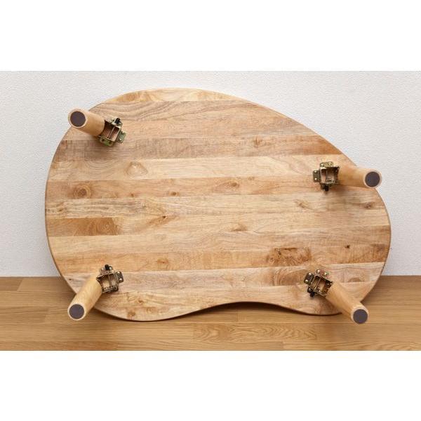 折りたたみテーブル 90cm幅 ビーンズ WFG-9005 天然木|adhoc-style|06