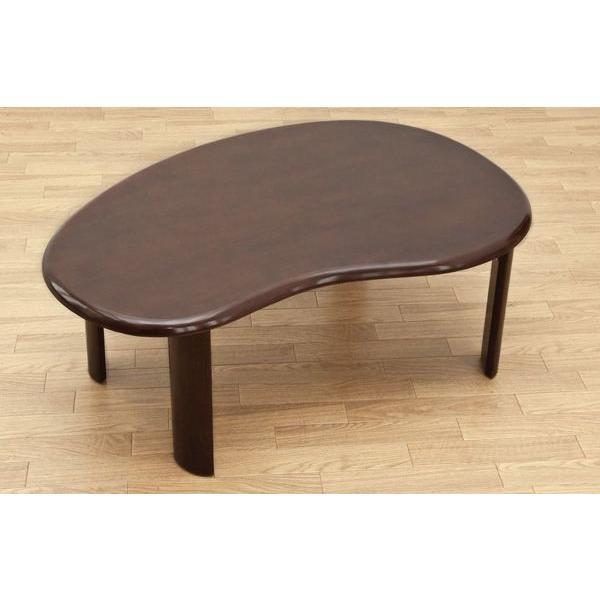 折りたたみテーブル 90cm×60cm  ビーンズ型 天然木製 WZ-901|adhoc-style|03