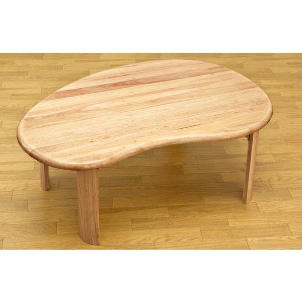 折りたたみテーブル 90cm×60cm  ビーンズ型 天然木製 WZ-901|adhoc-style|04