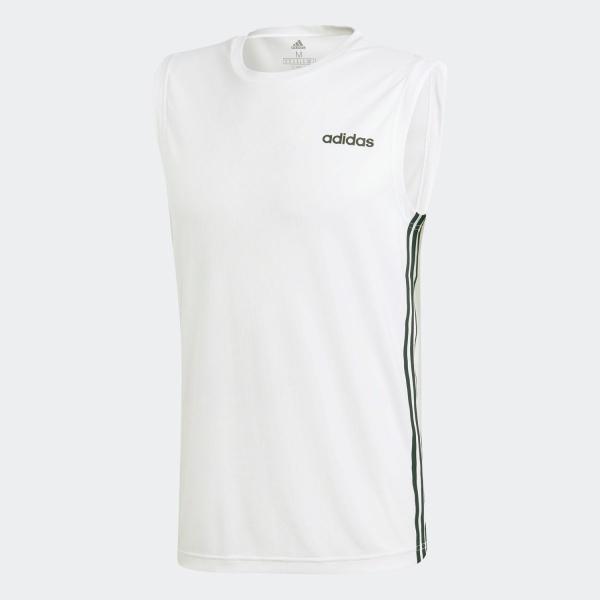 返品可 アディダス公式 ウェア トップス adidas スリーブレス3ストライプスTシャツ|adidas