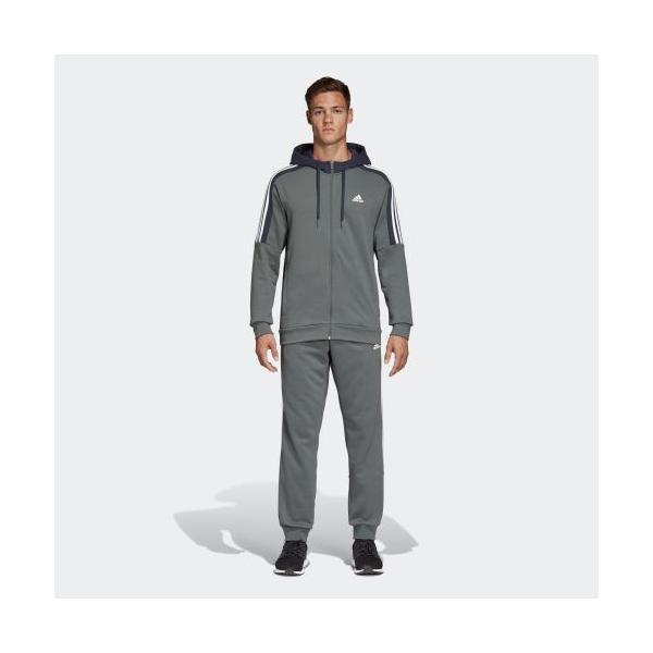 セール価格 アディダス公式 ウェア セットアップ adidas M MUSTHAVES スウェットパーカートラックスーツ|adidas