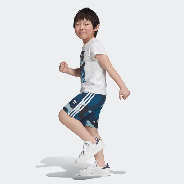 返品可 アディダス公式 ウェア セットアップ adidas カモ柄半袖Tシャツ&ショーツ 上下セット|adidas|02