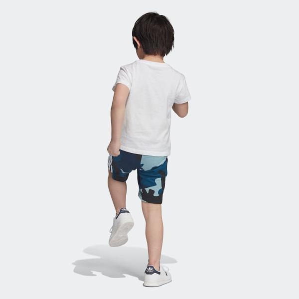返品可 アディダス公式 ウェア セットアップ adidas カモ柄半袖Tシャツ&ショーツ 上下セット|adidas|03