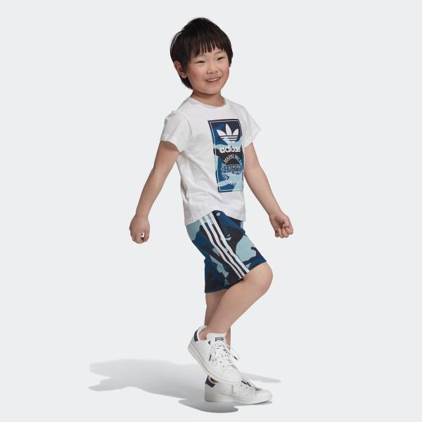 返品可 アディダス公式 ウェア セットアップ adidas カモ柄半袖Tシャツ&ショーツ 上下セット|adidas|04