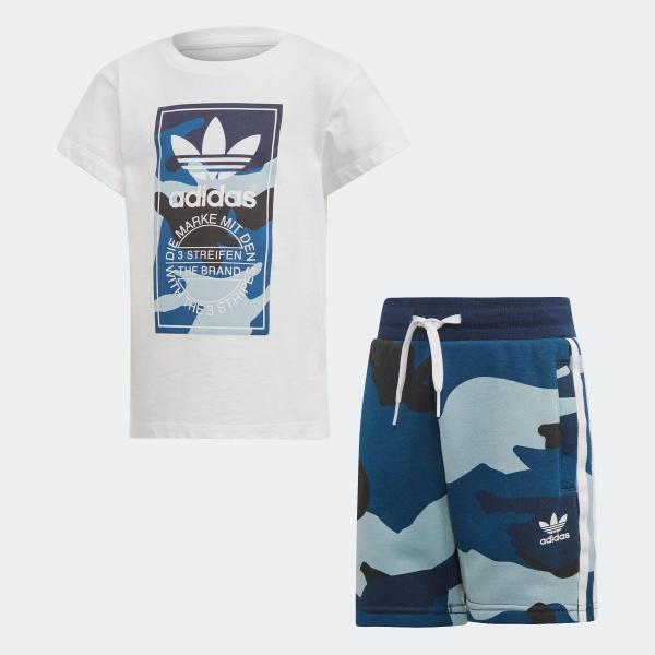 返品可 アディダス公式 ウェア セットアップ adidas カモ柄半袖Tシャツ&ショーツ 上下セット|adidas|05
