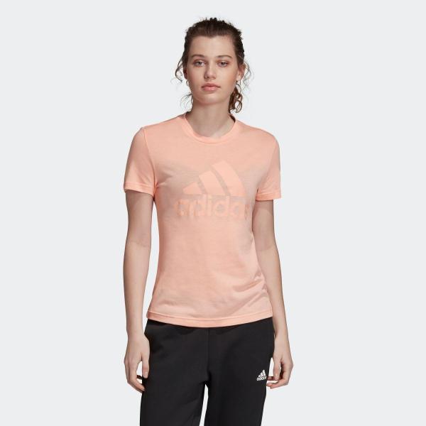 返品可 アディダス公式 ウェア トップス adidas W MH エンボス レギュラー Tシャツ adidas
