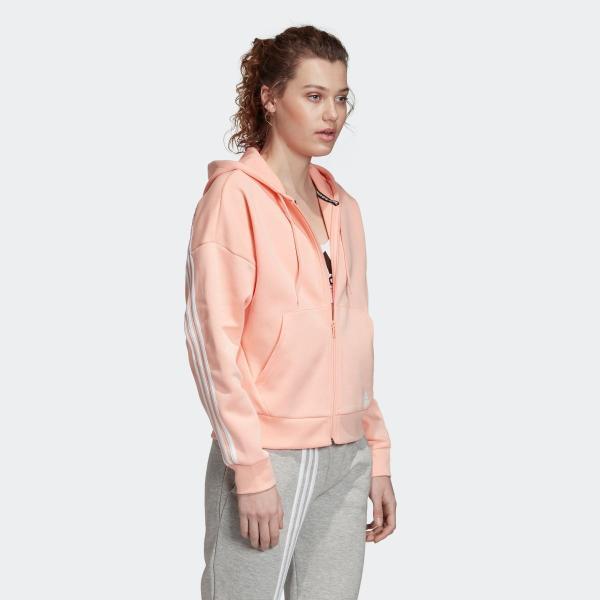 返品可 アディダス公式 ウェア トップス adidas W MH 3ストライプス ダブルニット フーディー p0924|adidas|04