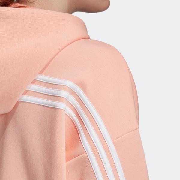 返品可 アディダス公式 ウェア トップス adidas W MH 3ストライプス ダブルニット フーディー p0924|adidas|09